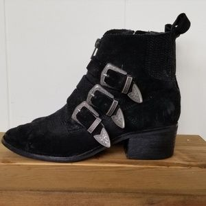 Dolce Vita Buckle Western Ankle Boot